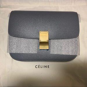 New Céline medium grey-blue box bag